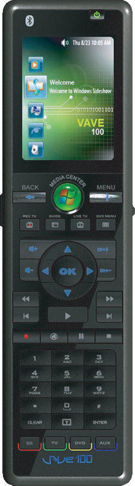 RicaVision VAVE100 Universal Remote Control with Windows Vista SideShow Technology